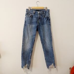 Zara distressed blue jeans size 30